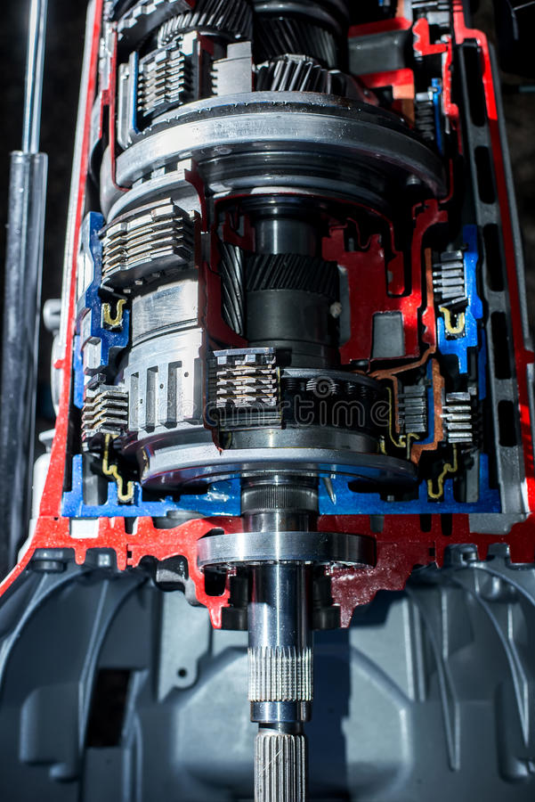 Transmission of car top view. Transmission of the car top view stock photography