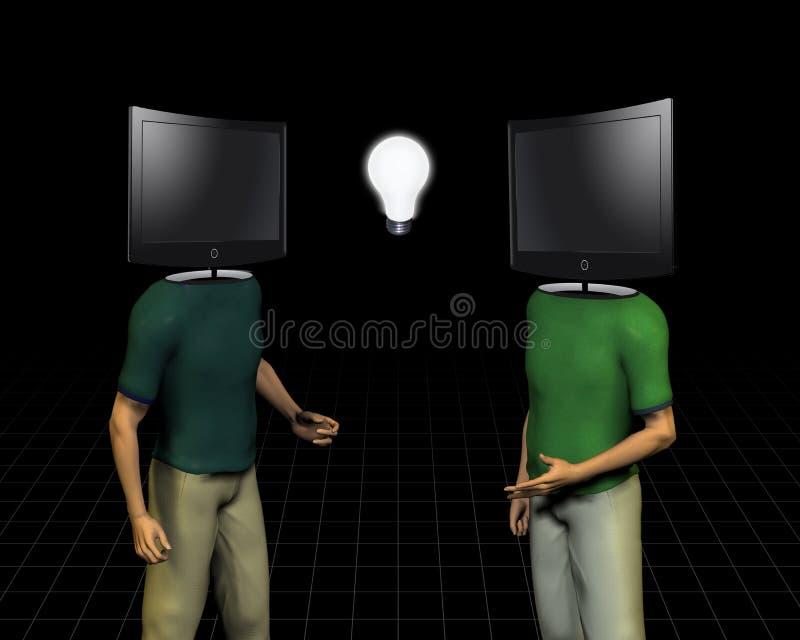 Transmission d'esprit de medias illustration de vecteur