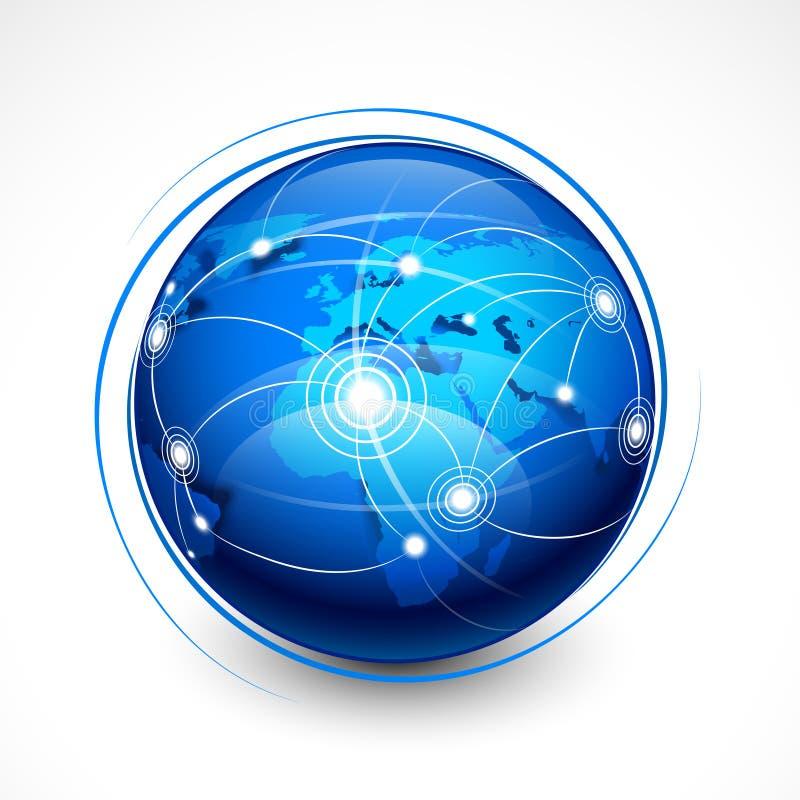 Transmission d'Internet de concept illustration libre de droits