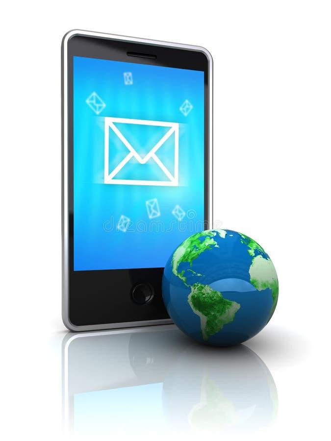 Transmission de messages de téléphone illustration libre de droits