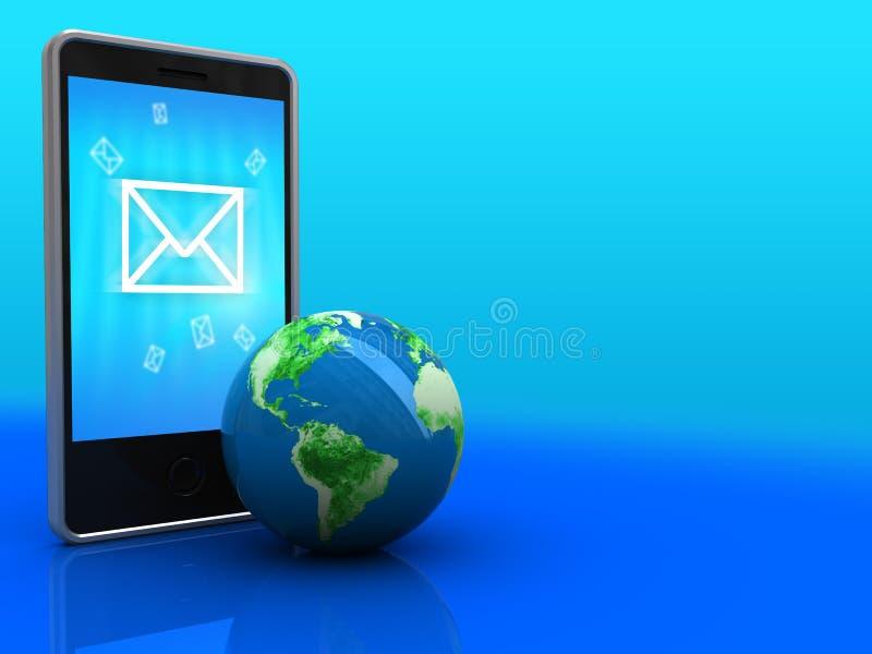 Transmission de messages de téléphone illustration de vecteur