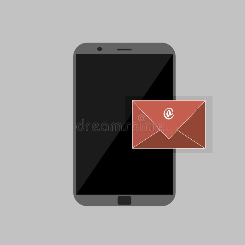 Transmission de messages de Gray Colored Smartphone Vecteur et illustration illustration de vecteur
