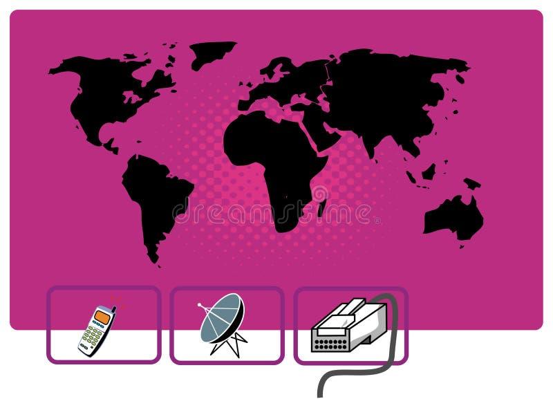 Transmission du monde illustration de vecteur