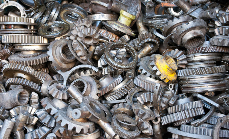 Transmission gear machanical parts. stock images
