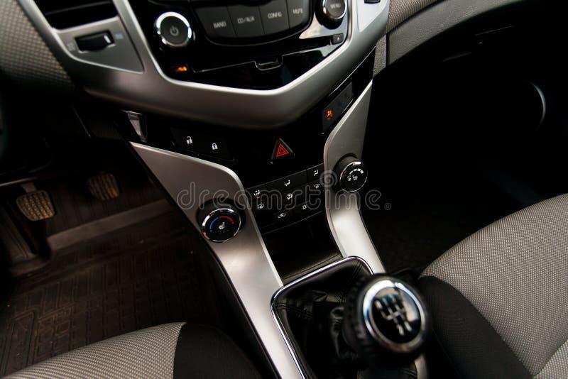 transmission Intérieur de voiture de l'intérieur Plan rapproch? image stock