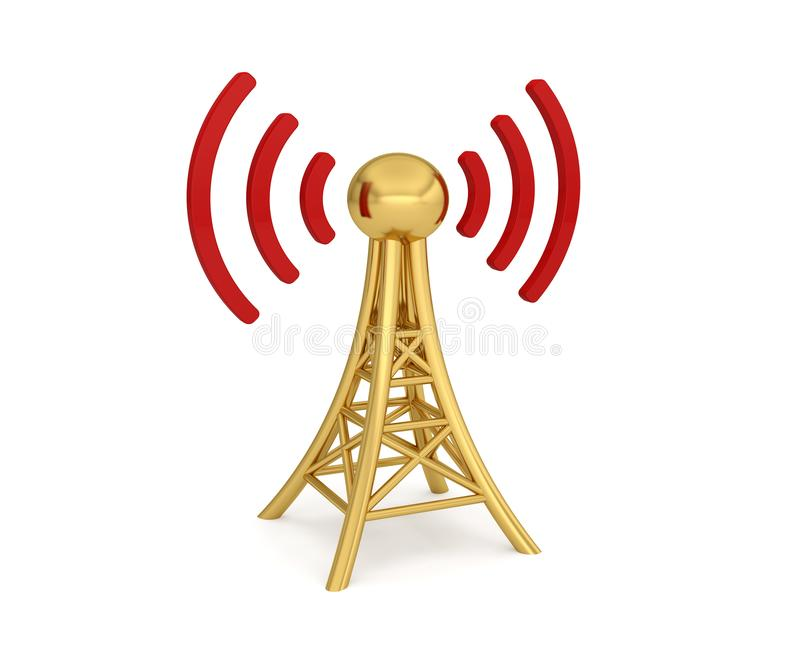 Transmission sans fil du r?seau 3G 4G 5G d'antenne illustration stock