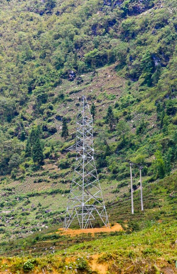 Transmission tower stock photo