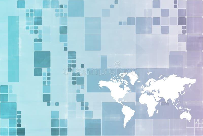 Transmissions mondiales d'affaires illustration libre de droits