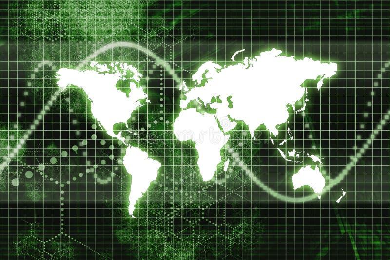 Transmissions mondiales vertes d'affaires illustration stock