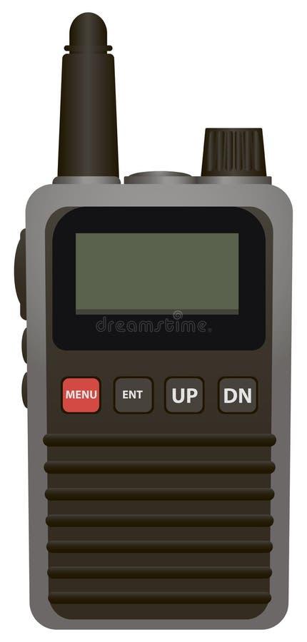Transmissor de rádio portátil ilustração stock