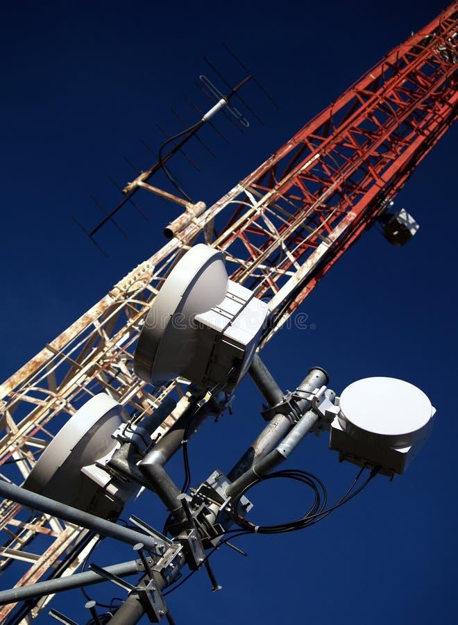 Transmitter. Radio, television, and data transmitters royalty free stock photos