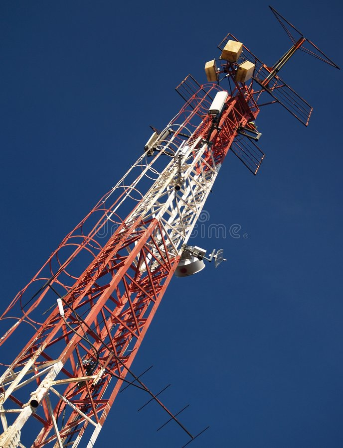 Transmitter. Radio, television, and data transmitters stock photography