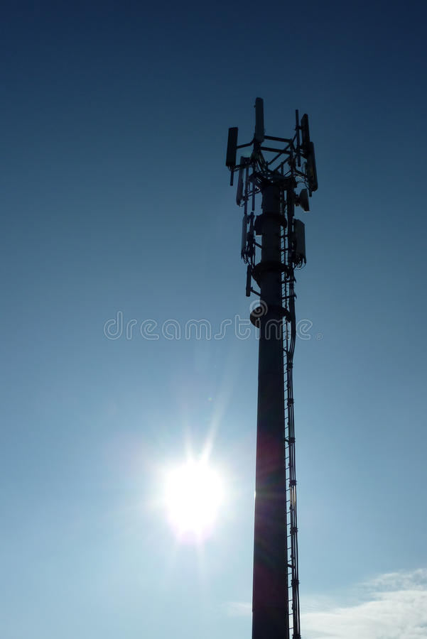 Transmitter mast royalty free stock photos