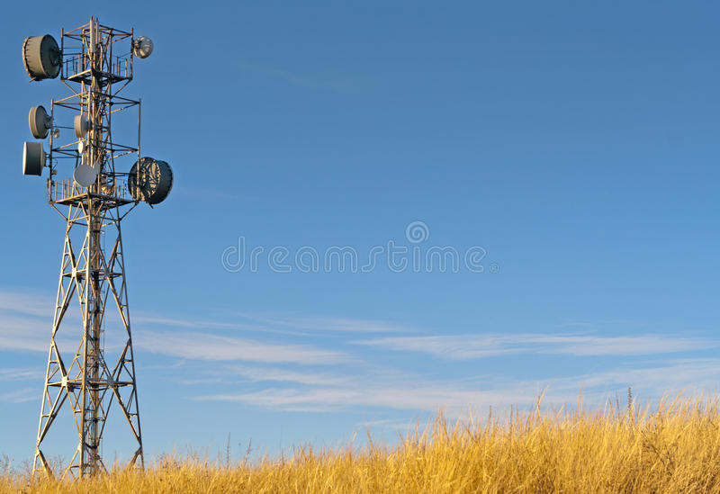 Download Transmitter tower against stock image. Image of cellular - 22519999