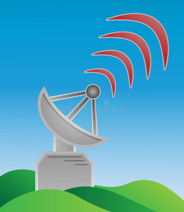Download Transmitter And Waves Stock Photo - Image: 28644450