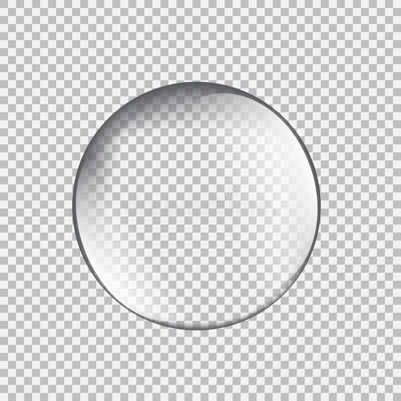 Transparant glasgebied met glans en hoogtepunten vector illustratie