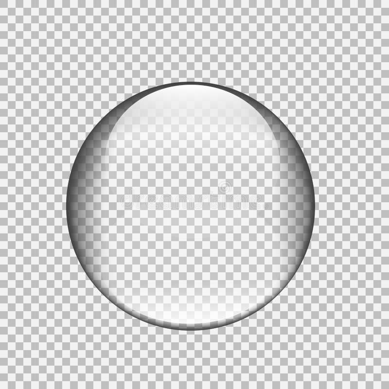 Transparant glasgebied met glans en hoogtepunten stock illustratie