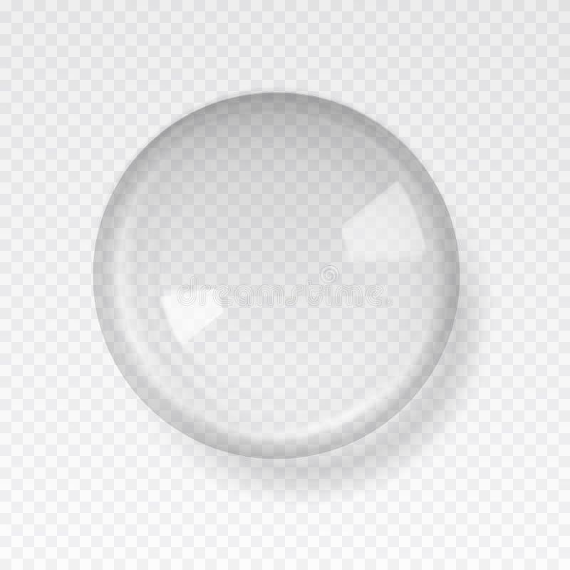 Transparant glasgebied met glans en hoogtepunten royalty-vrije illustratie