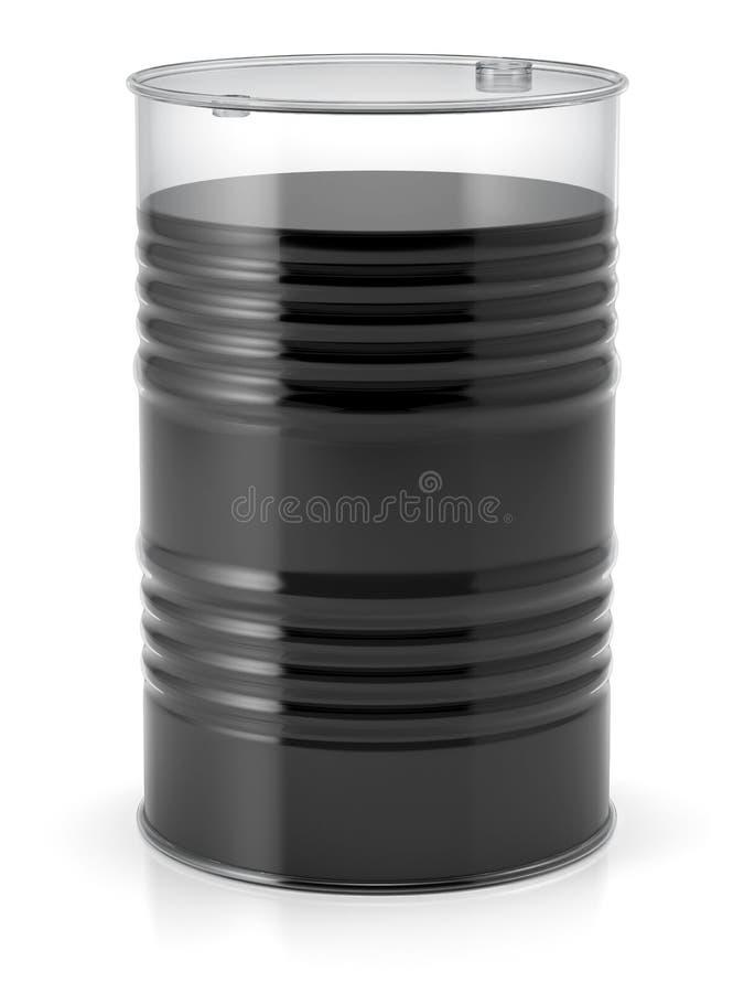 Transparant vat met olie royalty-vrije illustratie