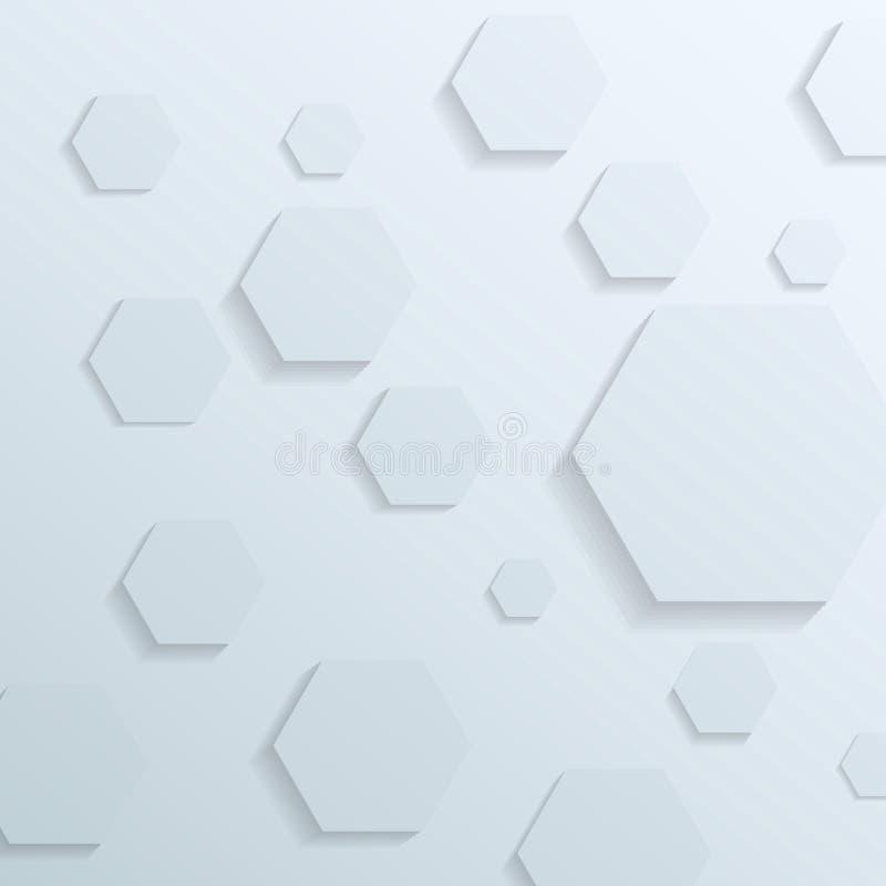 Transparante achtergrond met hexagon elementen vector illustratie