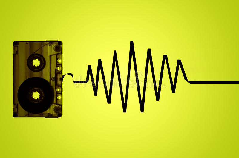 Transparante Audiocassetteband en Correcte Golf stock foto