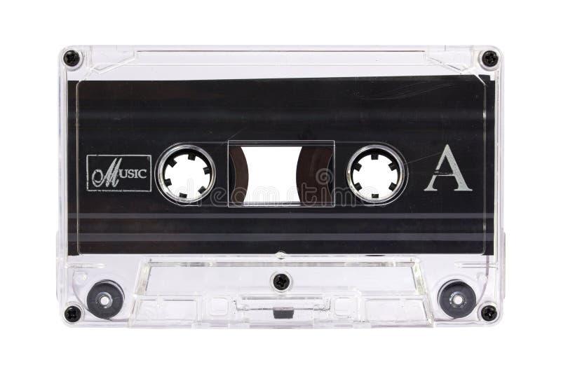 Transparante die cassetteband op wit wordt geïsoleerd royalty-vrije stock foto's