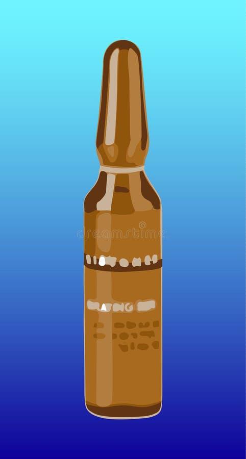 Transparante glasampul stock illustratie
