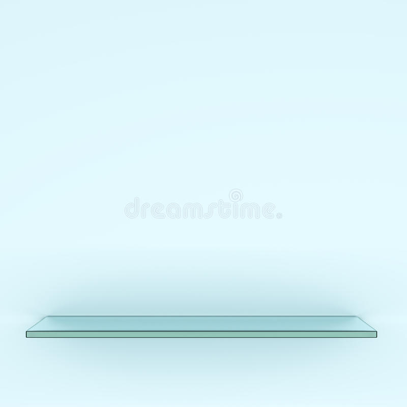 Transparante glasplank vector illustratie