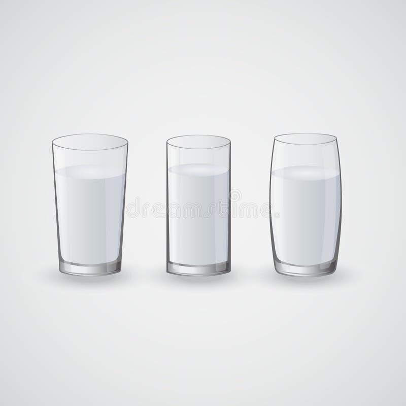 Transparante glazen met water vector illustratie