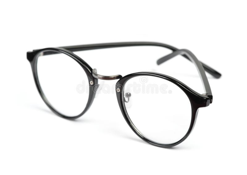 Transparante glazen voor correctie van gezicht stock fotografie