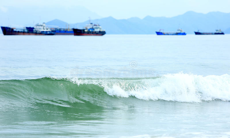 Transparante golven stock fotografie