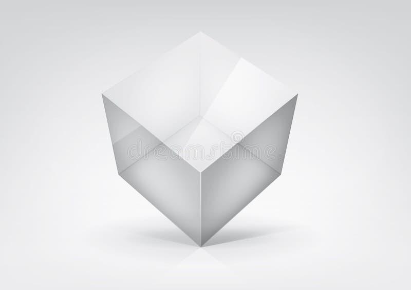 Transparante kubus royalty-vrije illustratie