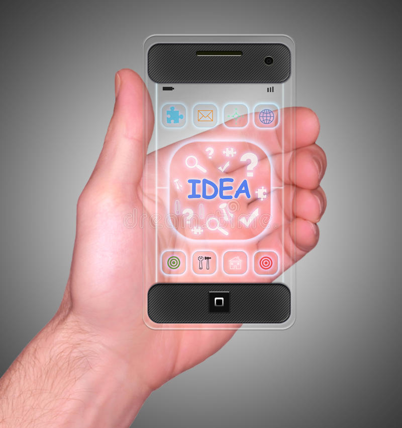 Transparante Mobiele Slimme Telefoon royalty-vrije stock afbeelding