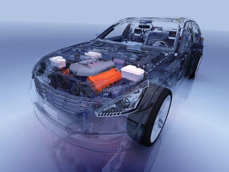 Transparante modelauto's vector illustratie