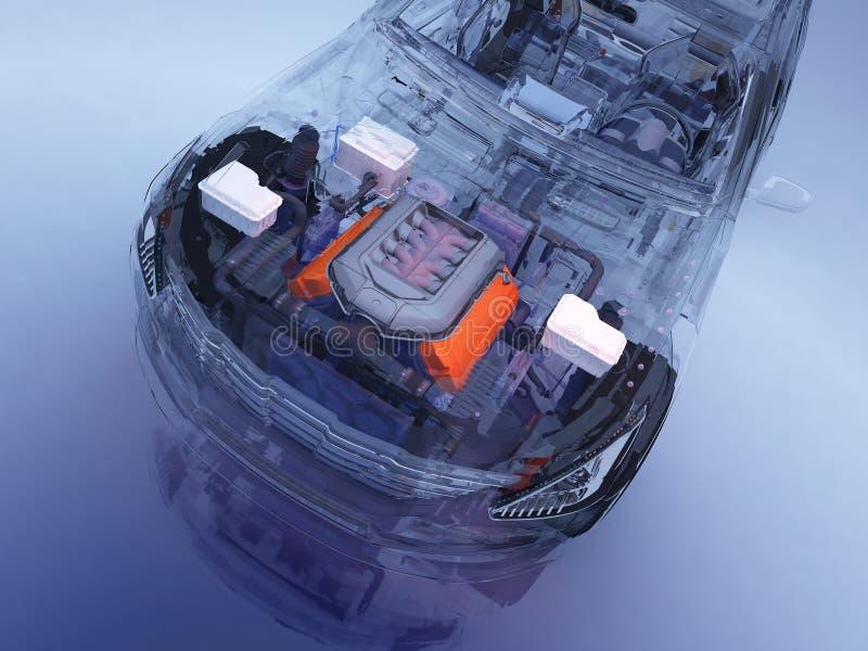 Transparante modelauto's royalty-vrije illustratie