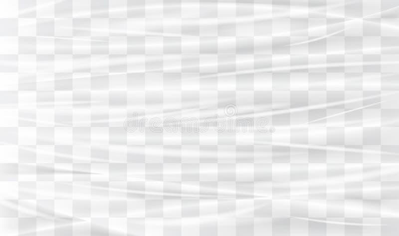 Transparante plastic afwijking vector illustratie