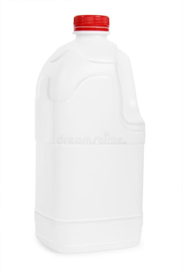 Transparante plastic gallon royalty-vrije stock foto