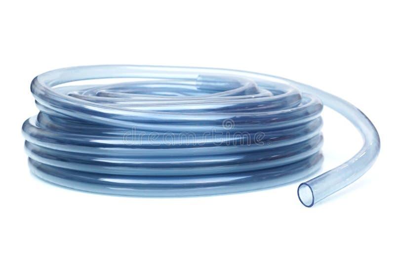 Transparante plastic waterslang stock foto's