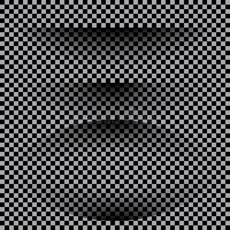 Transparante realistische document schaduweffect reeks De banner van het Web stock illustratie