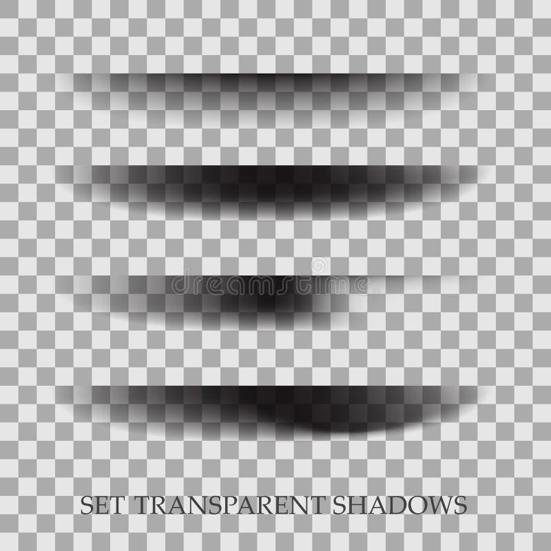Transparante realistische document schaduweffect reeks De banner van het Web Element voor adverterend en promotie bericht stock illustratie