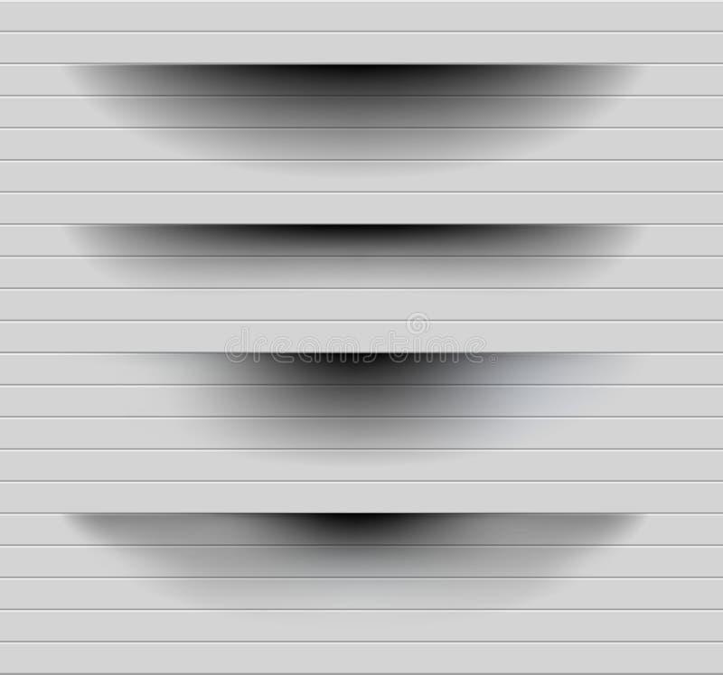 Transparante realistische document schaduweffect reeks De banner van het Web Element voor adverterend en promotie bericht vector illustratie
