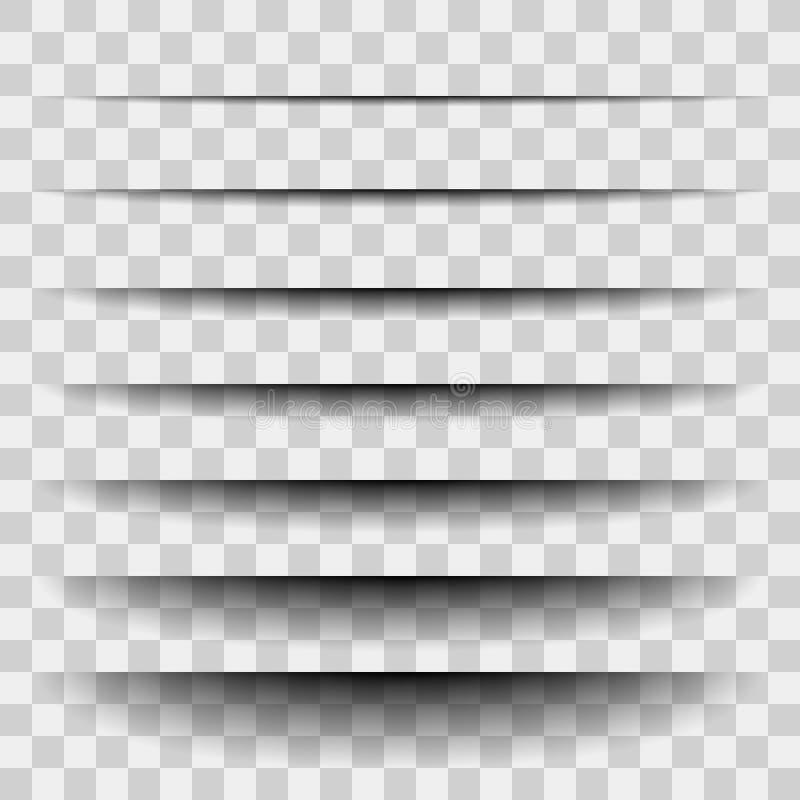 Transparante realistische document schaduweffect reeks De banner van het Web Element voor adverterend en promotie geïsoleerd beri vector illustratie