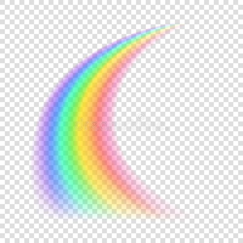 Transparante regenboog Vector illustratie vector illustratie