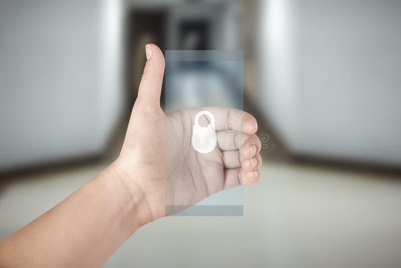 Transparante Telefoon ter beschikking royalty-vrije stock afbeeldingen
