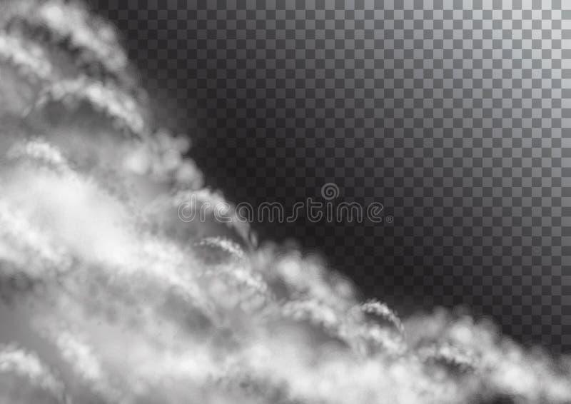 Transparante Vectorwolken stock illustratie