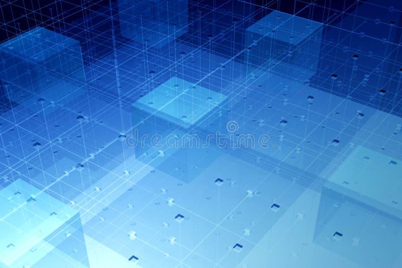 Transparante vezeltechnologie stock illustratie
