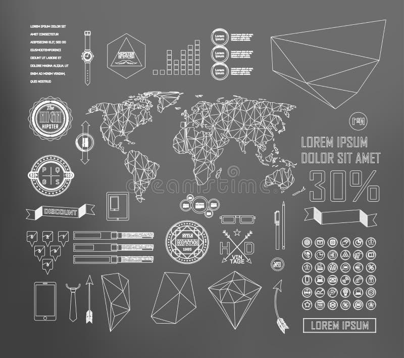 Transparante vlakke website, zaken Infographics stock illustratie