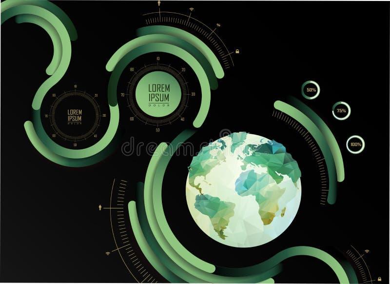Transparante vlakke website, zaken Infographics, vector illustratie