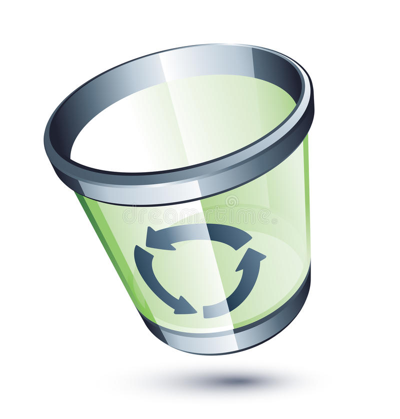 Transparante vuilnisbak royalty-vrije illustratie
