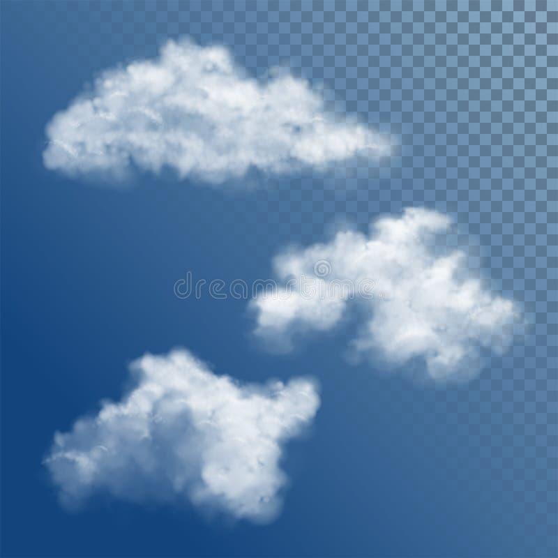 Transparante Witte Vectorwolk royalty-vrije illustratie